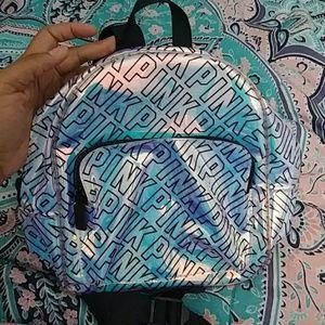 PINK Iridescent Mini Backpack